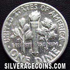 1955S United States Silver Roosevelt Dime 10 Cents