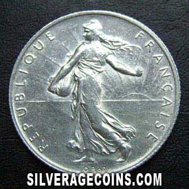 1914 French Silver 2 Francs