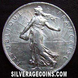 1918 French Silver 2 Francs