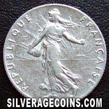 1915 French Silver 50 Cents