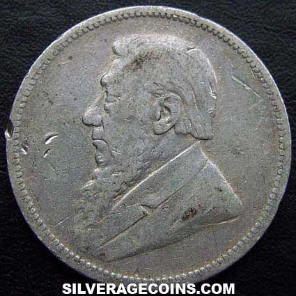 1895 South African ZAR Silver 2 Shillings