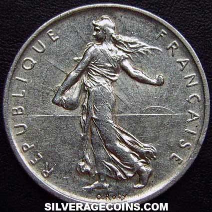 1960 French Silver 5 New Francs