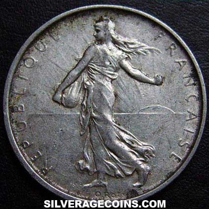 1964 French Silver 5 New Francs