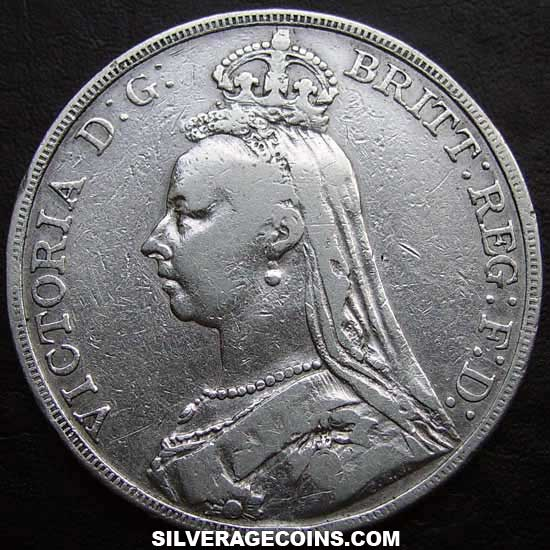 1892 Queen Victoria British Silver Quot Jubilee Head Quot Crown