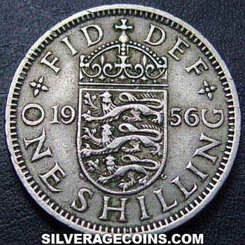 1956 Elizabeth II English Shilling
