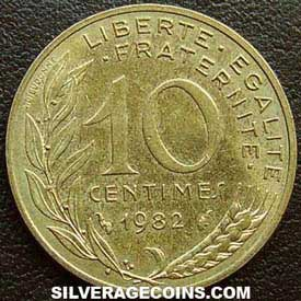 1982 French 10 New Cents