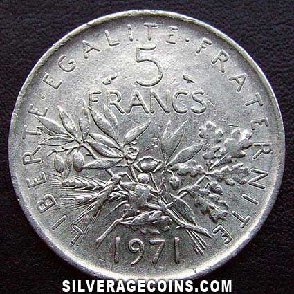 1971 French 5 New Francs