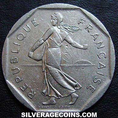 1980 French 2 New Francs Silveragecoins