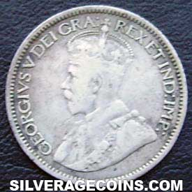 "1912 George V Canadian Silver ""Dime"" 10 cents"