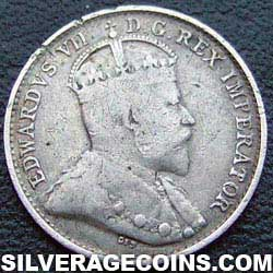 1903H Edward VII Canadian Silver 5 cents