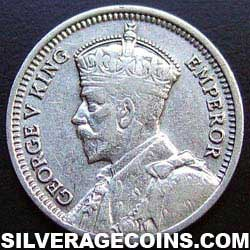 1934 George V New Zealand Silver Threepence