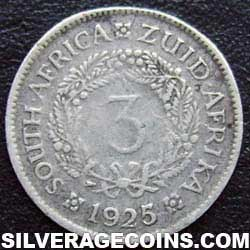 1925 George V South African Silver Threepence