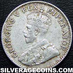 1933 George V South African Silver Threepence