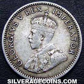 1932 George V South African Silver Sixpence