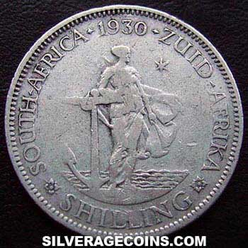 1930 George V South African Silver Shilling