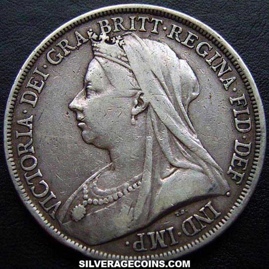 1893 Lvi Queen Victoria British Silver Quot Widow Head Quot Crown