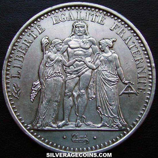 1967 French Silver 10 New Francs (Hercules)