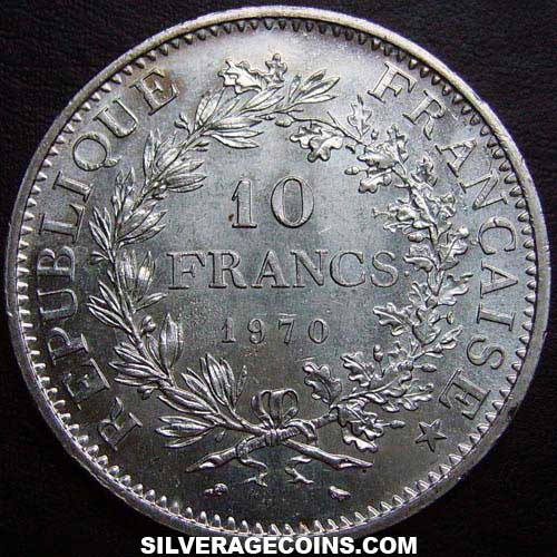 1970 French Silver 10 New Francs (Hercules)