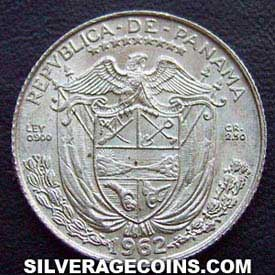 1962 Panama Silver Tenth Balboa (low relief)