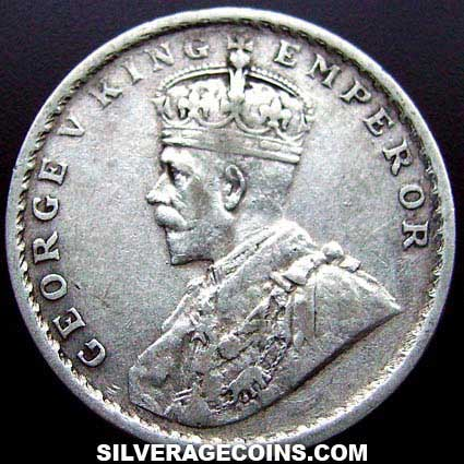 1914 C George V British India Silver Rupee Silveragecoins