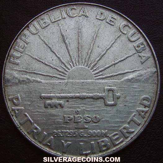 ND(1953) Cuban Silver Peso (centennial of Jose Marti)
