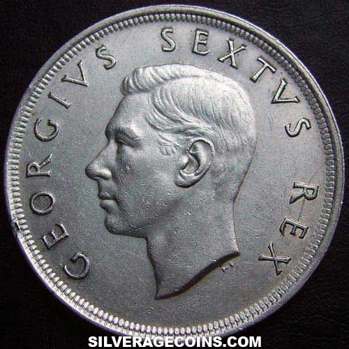1952 George VI South African Silver 5 Shillings (Capetown)