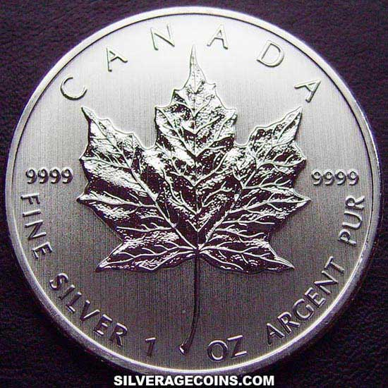 2011 Canadian 5 Dollars 1 Ounce Silver Maple Leaf