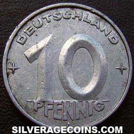 1952A German Democratic Republic 10 Pfennig