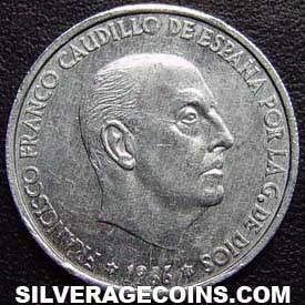 1966 (73) Franco Spanish 50 Cents