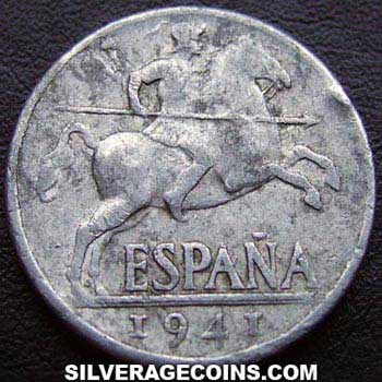 1941 PLVS Nationalist Government Spanish 10 Cents