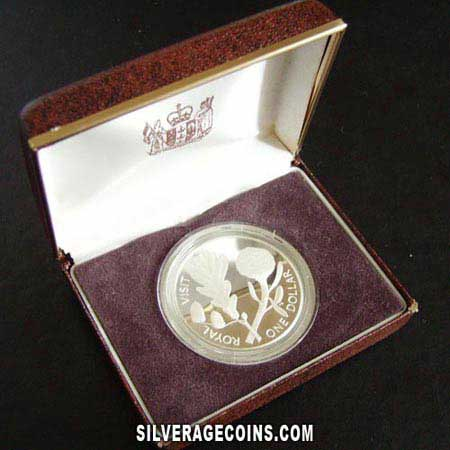 New Zealand Elizabeth II  Silver Proof 1 Dollar