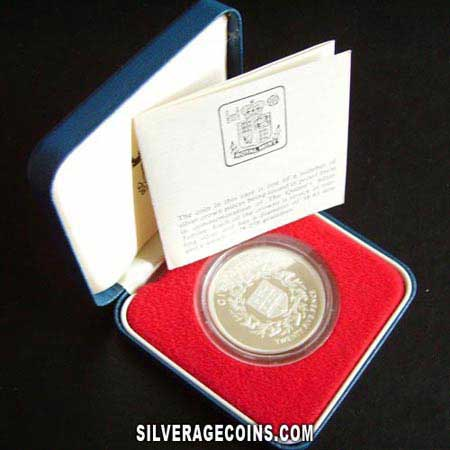 1977 Proof Gibraltar Silver Proof 25 New Pence