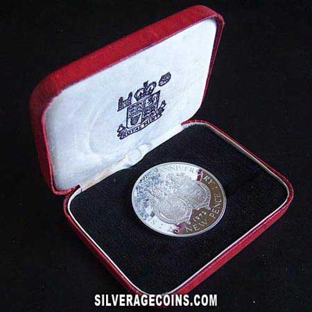 1972 Proof Gibraltar 25 Pence Silver Proof Silver