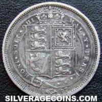 "1887 Queen Victoria British Silver  ""Withdrawn Jubilee Head"" Sixpence"