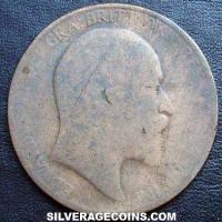 1906 Edward VII British Bronze Penny