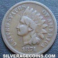 1874 United States Bronze Indian Head Cent