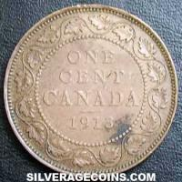 1913 George V Canadian Bronze Cent
