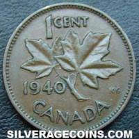 1940 George VI Canadian Bronze Cent