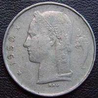 1950 Belgian Franc (French, coin alignment)
