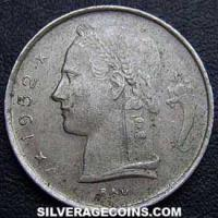 1952 Belgian Franc (French, coin alignment)