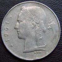 1961 Belgian Franc (French, coin alignment)