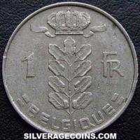1963 Belgian Franc (French, coin alignment)