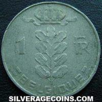 1965 Belgian Franc (French, coin alignment)