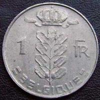 1971 Belgian Franc (French, coin alignment)