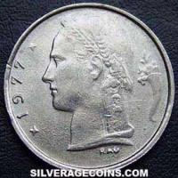 1977 Belgian Franc (French, coin alignment)