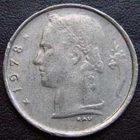 1978 Belgian Franc (French, coin alignment)