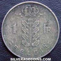 1950 Belgian Franc (Dutch, coin alignment)