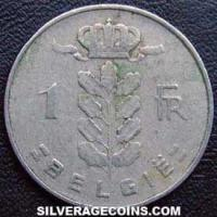 1956 Belgian Franc (Dutch, coin alignment)