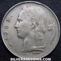 1963 Belgian Franc (Dutch, coin alignment)