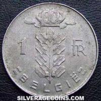 1973 Belgian Franc (Dutch, coin alignment)
